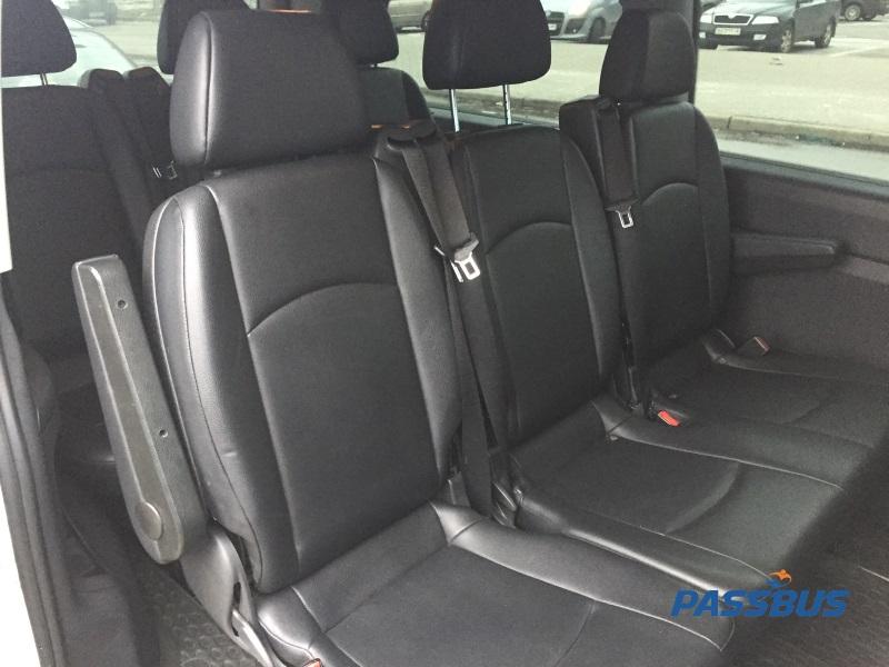 Заказ минивэна Mercedes-Benz Vito с водителем в Киеве для обслуживание делегаций